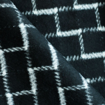 Drap de laine graphique Noir & Blanc