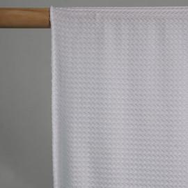 achat TISSU MAILLOT DE BAIN CHEVRON blanc - Pretty Mercerie - mercerie en ligne