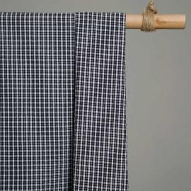 achat Tissu coton seersucker tartan noir et blanc - pretty mercerie - mercerie en ligne