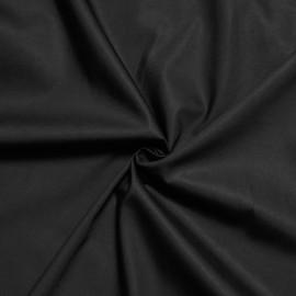 Tissu popeline de coton noir x 10cm