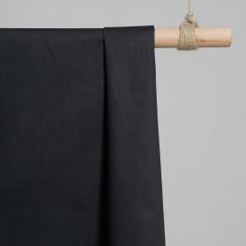 achat Tissu popeline de coton noir - pretty mercerie - mercerie en ligne