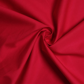 Tissu popeline de coton rouge x 10cm