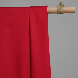 achat Tissu popeline de coton rouge - pretty mercerie - mercerie en ligne