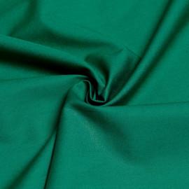 Tissu popeline de coton vert émeraude x 10cm