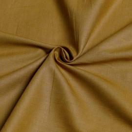 Tissu popeline de coton moutarde x 10cm