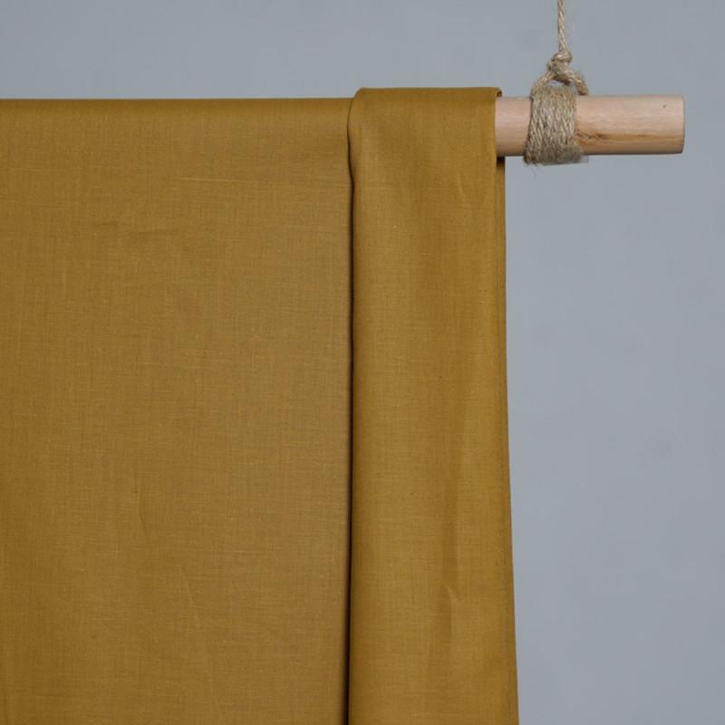 achat Tissu popeline de coton moutarde - pretty mercerie - mercerie en ligne