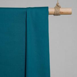 achat Tissu popeline de coton bleu canard - pretty mercerie - mercerie en ligne
