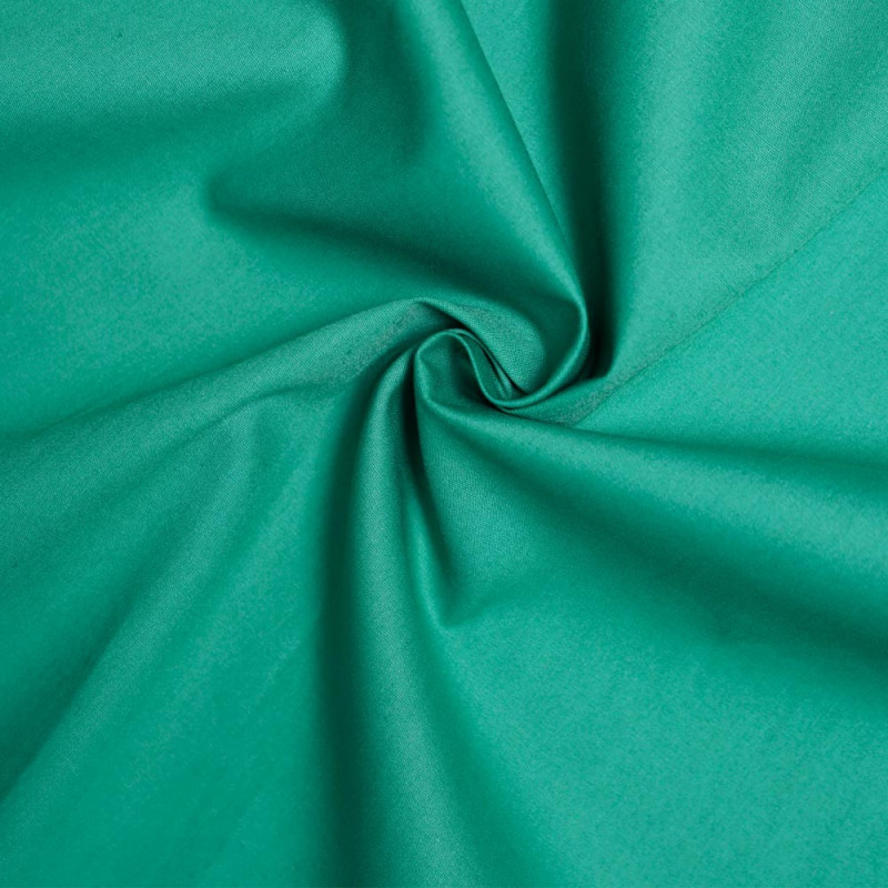 achat Tissu popeline de coton vert porcelaine - pretty mercerie - mercerie en ligne