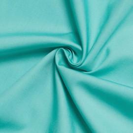 Tissu popeline de coton turquoise x 10cm