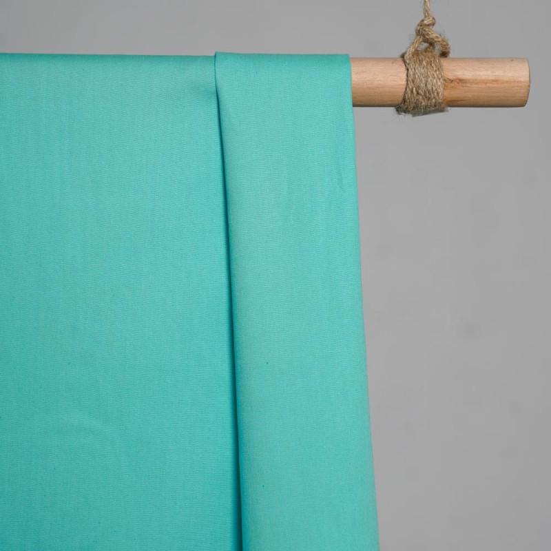 achat Tissu popeline de coton turquoise- pretty mercerie - mercerie en ligne