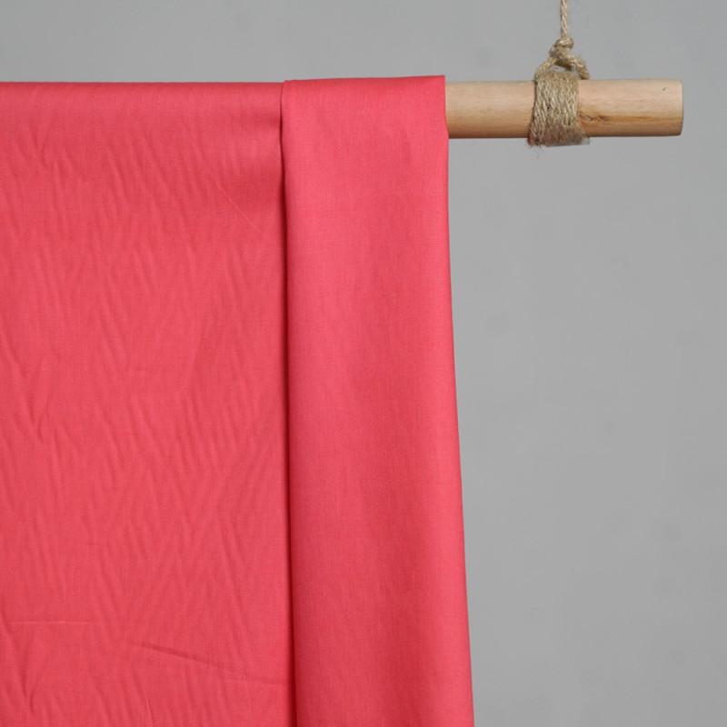 achat Tissu popeline de coton fuchsia - pretty mercerie - mercerie en ligne