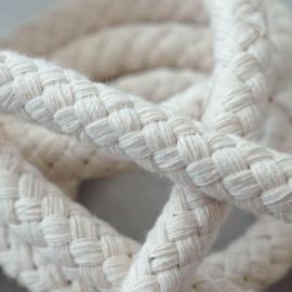 achat Corde de Coton Tressé crème - pretty mercerie - mercerie en ligne