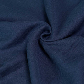 Tissu gaze de coton bleu à carreaux tissés x 10cm