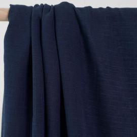 achat Tissu gaze de coton bleu à carreaux tissés - pretty mercerie - mercerie en ligne