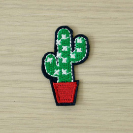 achat Badge brodé mini cactus  - pretty mercerie - mercerie en ligne