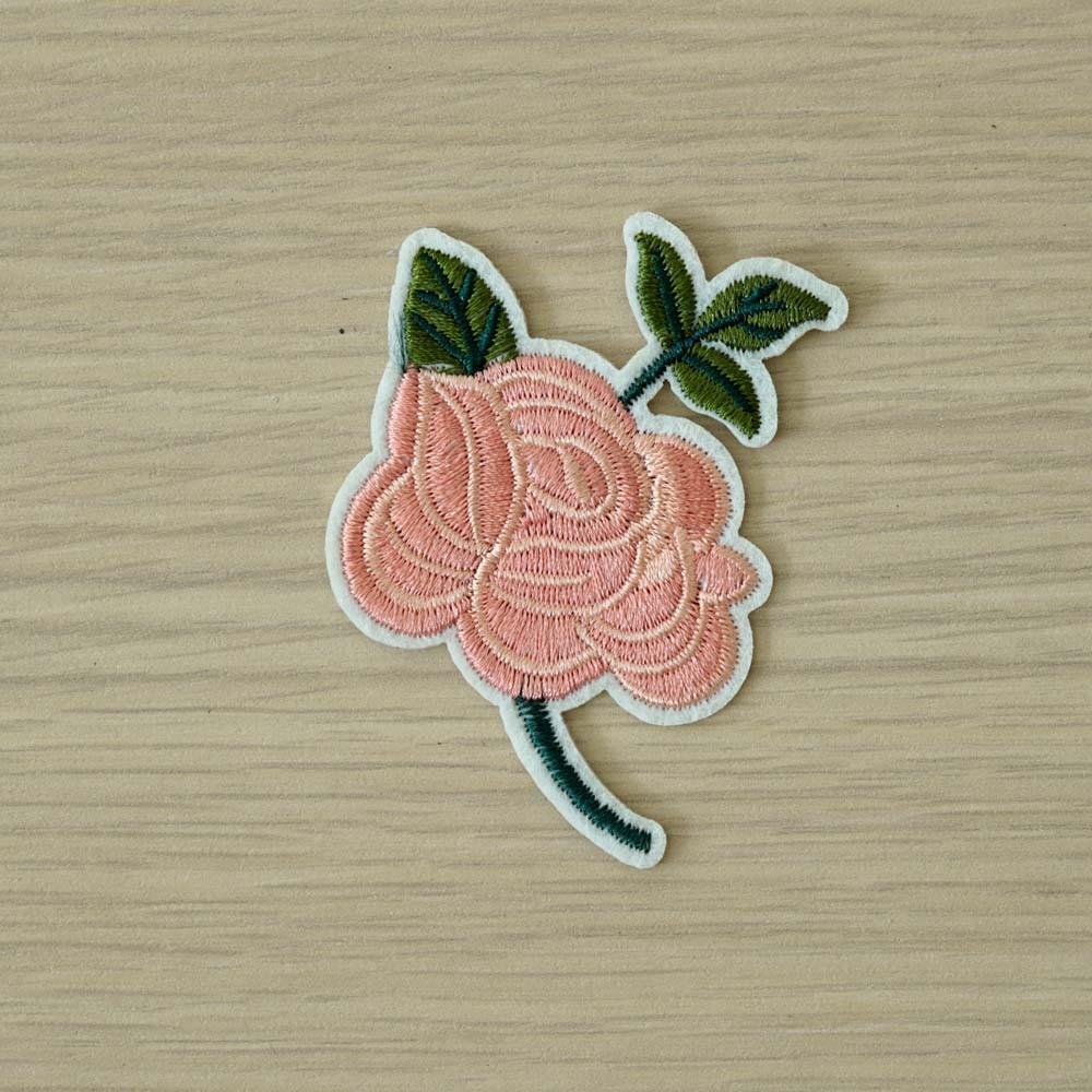 achat Badge brodé rose verte et rose  - pretty mercerie - mercerie en ligne