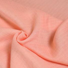 Tissu gaze de coton corail à carreaux tissés x 10cm
