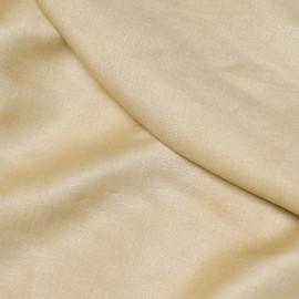 Tissu lin uni sable x 10cm