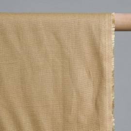 achat Tissu lin uni sable - pretty mercerie - mercerie en ligne