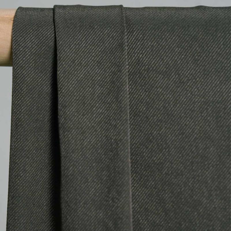 achat Tissu tri-acétate et nylon sergé kaki  - pretty mercerie - mercerie en ligne