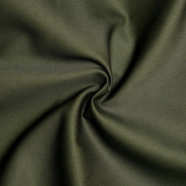 Tissu gabardine vert kaki x 10cm