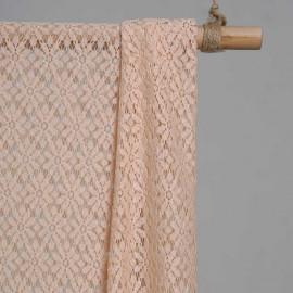 achat Tissu guipure nude motif fleurs paquerettes  - pretty mercerie - mercerie en ligne