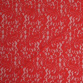 achat Tissu guipure rouge poppy motif folk paisley  - pretty mercerie - mercerie en ligne
