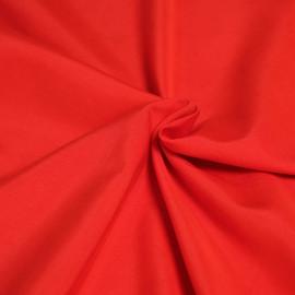 Tissu modal rouge poppy effet peau de pêche x 10cm