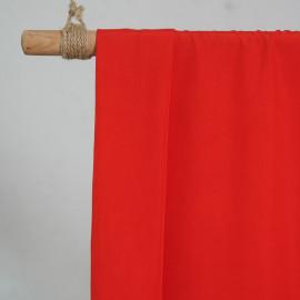 achat Tissu modal rouge poppy effet peau de pêche - pretty mercerie - mercerie en ligne