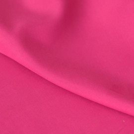 Tissu modal rose fuchsia effet peau de pêche x 10cm