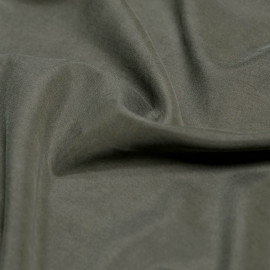 Tissu modal vert kaki effet peau de pêche x 10cm