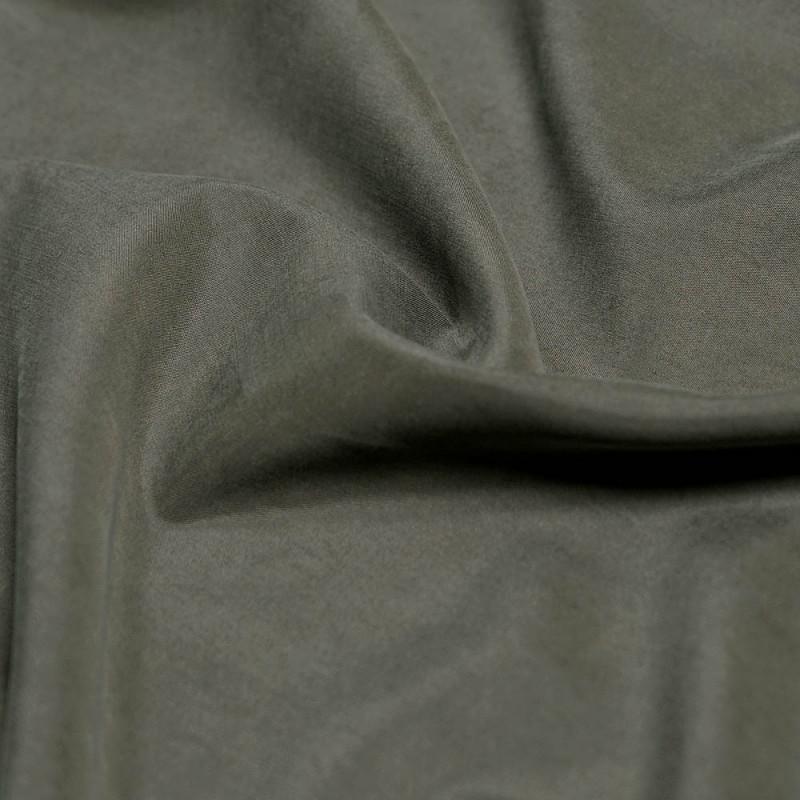 Achat tissu modal au m tre vert kaki peau de p che pretty mercerie - Tissu peau de peche ...