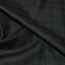 Tissu flanelle carreaux bleu nuit & noir x 10cm