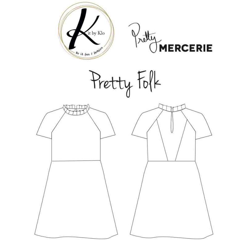 achat patron de couture robe femme pretty folk