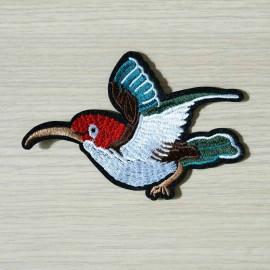 achat Badge brodé motif colibri des îles gauche  - pretty mercerie - mercerie en ligne