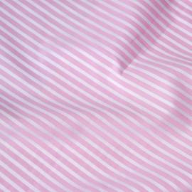 achat tissu coton tissé rayé rose et blanc - pretty mercerie - mercerie en ligne