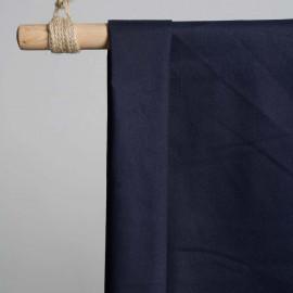 achat Tissu denim chino bleu nuit  - pretty mercerie - mercerie en ligne