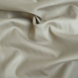 tissu tencel serge beige  x 10 CM