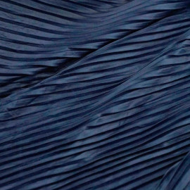 Tissu suédine plissée bleu foncé x 10cm