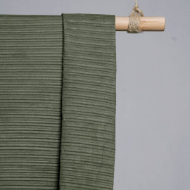 achat Tissu suédine plissée kaki - pretty mercerie - mercerie en ligne