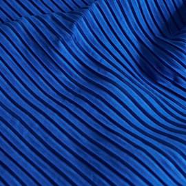 Tissu suédine plissée dazzling blue x 10cm
