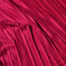 Tissu suédine plissée rouge persian x 10cm