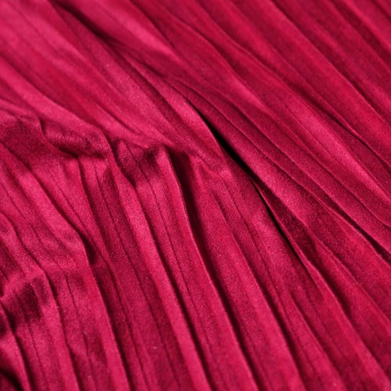 achat tissu su dine pliss e rouge pour couture pretty. Black Bedroom Furniture Sets. Home Design Ideas