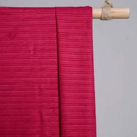 achat Tissu suédine plissée rouge persian - pretty mercerie - mercerie en ligne