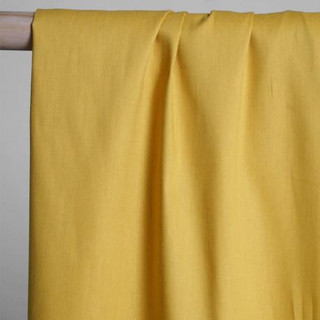 achat Tissu oxford chambray ocre - pretty mercerie - mercerie en ligne