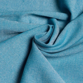 Tissu oxford chambray bleu canard et blanc x 10cm