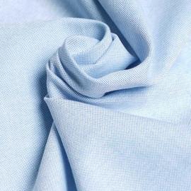 Tissu oxford bleu ciel et blanc x 10cm