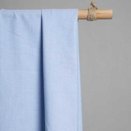 achat Tissu oxford bleu ciel et blanc  - pretty mercerie - mercerie en ligne