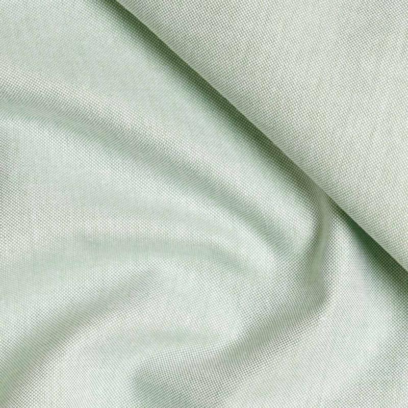 achat Tissu oxford vert et blanc  - pretty mercerie - mercerie en ligne