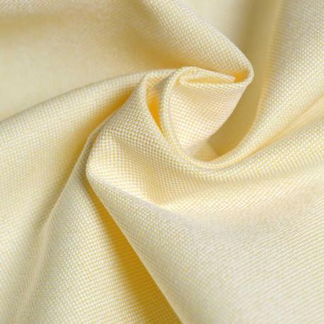 achat Tissu oxford jaune et blanc  - pretty mercerie - mercerie en ligne